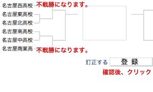 トーナメント表 の 作り方